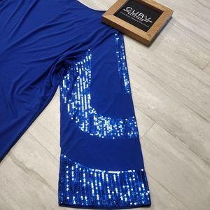 Ashro Blue Sequin Dress 3X NWT